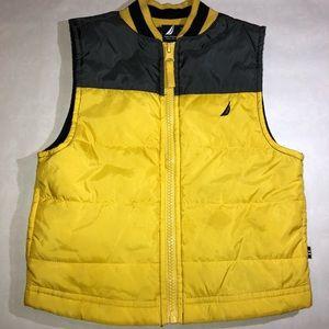 Nautica Baby Boy's Yellow & Navy Puffer Vest 24M